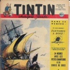 Cómics: JOURNAL TINTIN CHAQUE JEUDI. CINQUIÈME ANNÉE Nº 205, 25-9-1952. Lote 239958980
