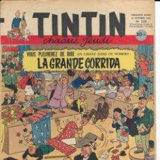 Cómics: JOURNAL TINTIN CHAQUE JEUDI. CINQUIÈME ANNÉE Nº 208, 16-10-1952. Lote 239959670