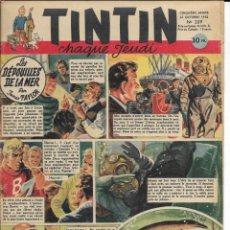 Cómics: JOURNAL TINTIN CHAQUE JEUDI. CINQUIÈME ANNÉE Nº 209, 23-10-1952. Lote 239959920