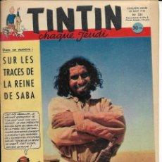 Cómics: JOURNAL TINTIN CHAQUE JEUDI. CINQUIÈME ANNÉE Nº 201, 28-8-1952. Lote 240363895