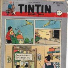 Cómics: JOURNAL TINTIN CHAQUE JEUDI. QUATRIÈME ANNÉE Nº 153, 27-9-1951. CUBIERTA DE HERGÉ. Lote 240482025