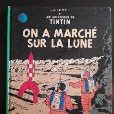 Cómics: TINTIN ON A MARCHÉ SUR LA LUNE **TAPA DUTA 1966. Lote 241926965