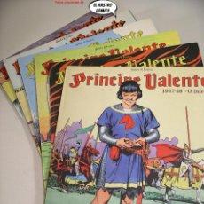 Cómics: PRINCIPE VALENTE LOTE TOMOS Nº 1 2 3 4 Y 5, ED MANUEL CALDAS 2005, EN PORTUGUÉS, VALIENTE, OFERTA!!. Lote 250254525