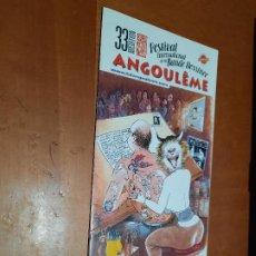 Cómics: TRIPTICO DE LA 33 EDICIÓN DEL FESTIVAL INTERNATIONAL DE LA BANDE DESSINEE ANGULEME. 2006. DIFICIL. Lote 254021265