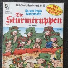 Cómics: DIE STURMTRUPPEN NR. 32 - BONVI - EN ALEMÁN - BETA VERLAG GMBH - 1989 - ¡BUEN ESTADO!. Lote 257280055