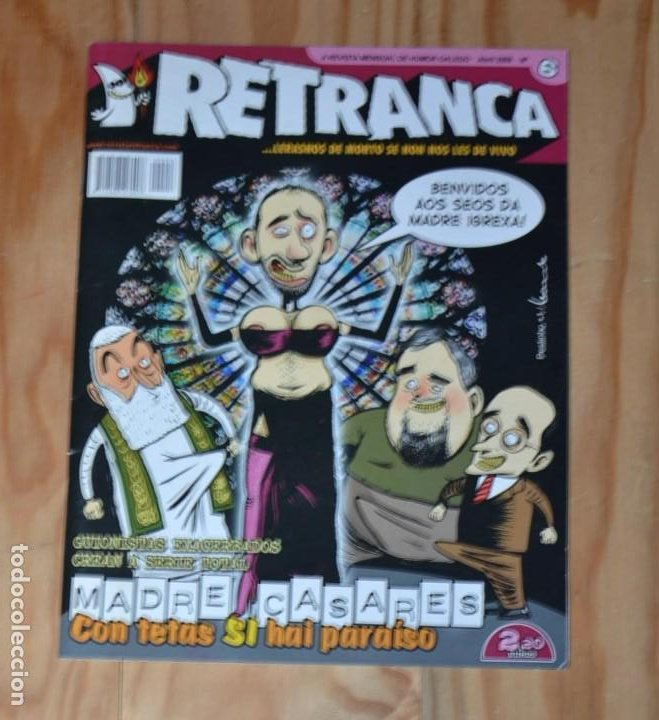RETRANCA Nº 6 REVISTA HUMOR GALEGO HISTORIETA COMIC BANDA DESEÑADA GALLEGO GALICIA (Tebeos y Comics - Comics Lengua Extranjera - Comics Europeos)