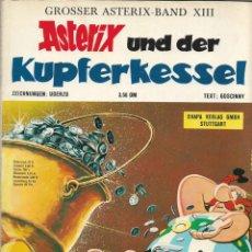 Cómics: COMIC ASTERIX UND DER KUPFERKESSEL EN ALEMÁN, EDICIÓN 1972. Lote 265494879
