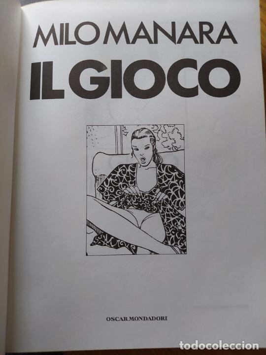 Cómics: 2 comics de Milo Manara, en italiano, Il Gioco 1 y Jolanda de almaviva. - Foto 10 - 269251043