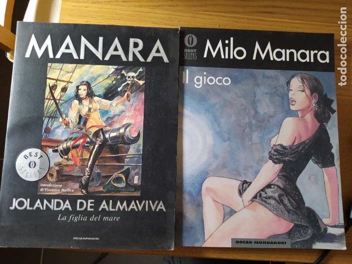 2 COMICS DE MILO MANARA, EN ITALIANO, IL GIOCO 1 Y JOLANDA DE ALMAVIVA. (Tebeos y Comics - Comics Lengua Extranjera - Comics Europeos)