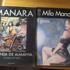 Cómics: 2 COMICS DE MILO MANARA, EN ITALIANO, IL GIOCO 1 Y JOLANDA DE ALMAVIVA.. Lote 269251043
