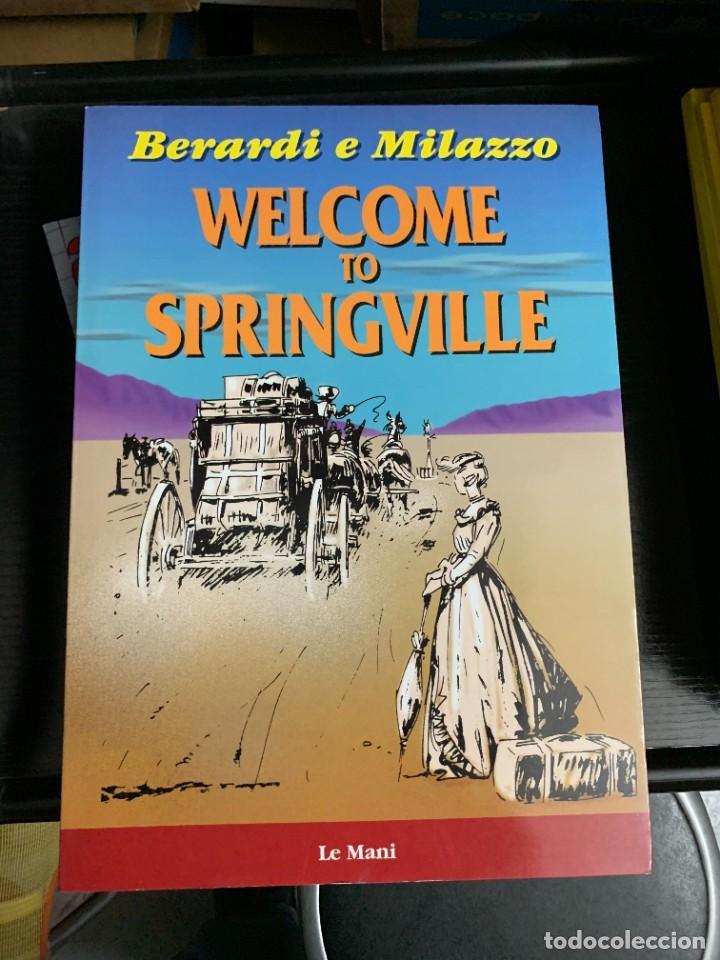 WELCOME TO SPRINGVILLE, DE BERARDI Y MILAZZO. EN ITALIANO, GRAN FORMATO (Tebeos y Comics - Comics Lengua Extranjera - Comics Europeos)