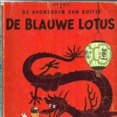 Cómics: HERGE - TINTIN IDIOMAS - DE BLAUWE LOTUS - EL LOTO AZUL - EN HOLANDES - CASTERMAN - TAPA BLANDA. Lote 275549493