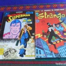 Cómics: STRANGE LE JOURNAL DE SPIDER-MAN 196 SPIDERMAN LUX, SUPERMAN POCHE N. DOUBLE 106 107 SAGEDITION 1986. Lote 277052203