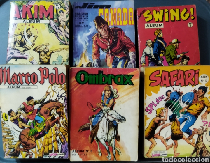 LOTE DE 6 ÁLBUMES DE CÓMICS FRANCESES AÑOS 60 VARIOS PERSONAJES (Tebeos y Comics - Comics Lengua Extranjera - Comics Europeos)