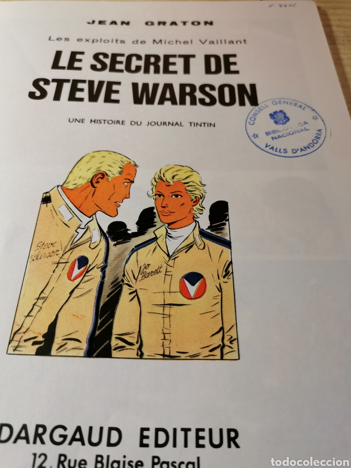 Cómics: MICHELVAILLANT. LE SECRET DE STEVE WARSON - JEAN GRATON - ED. DARGAUD 1978 - Foto 3 - 277281273