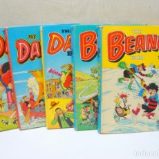 Cómics: LOTE X5 BOOK ANNUAL - THE BEANO 1986 1988 Y DANDY 1986 1987 1988. Lote 280788453
