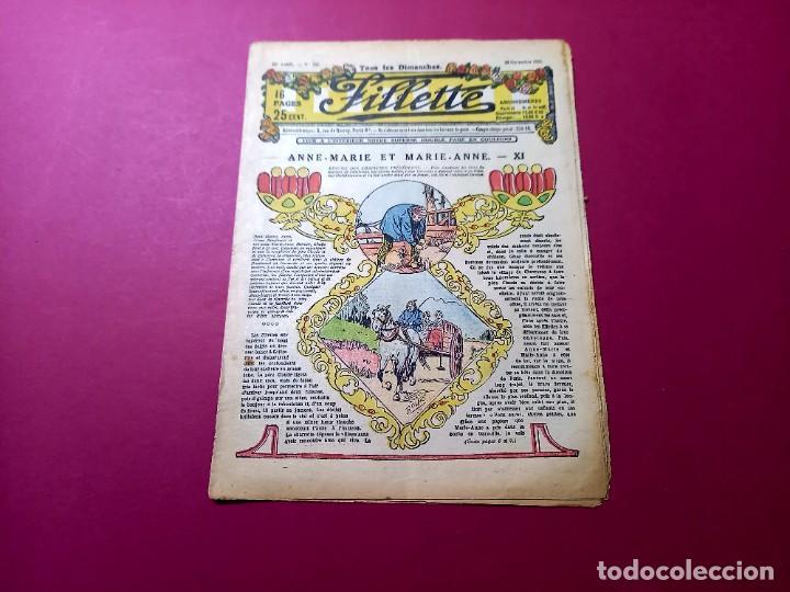 FILLETTE . N°871 -ANNÉE 1924 NOVEMBRE-PARIS (Tebeos y Comics - Comics Lengua Extranjera - Comics Europeos)