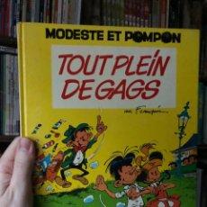Cómics: 1ª ED MODESTE ET POMPOM FRANQUIN 1973 DU LOMBARD TOUT PLEIN DE GAGS. Lote 287970558