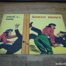 Cómics: ROMEO BROWN Nº 3. Lote 288231638