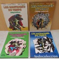 Cómics: LES NAUFRAGES DU TEMPS - 4 TOMOS - BUEN ESTADO.. Lote 289001998