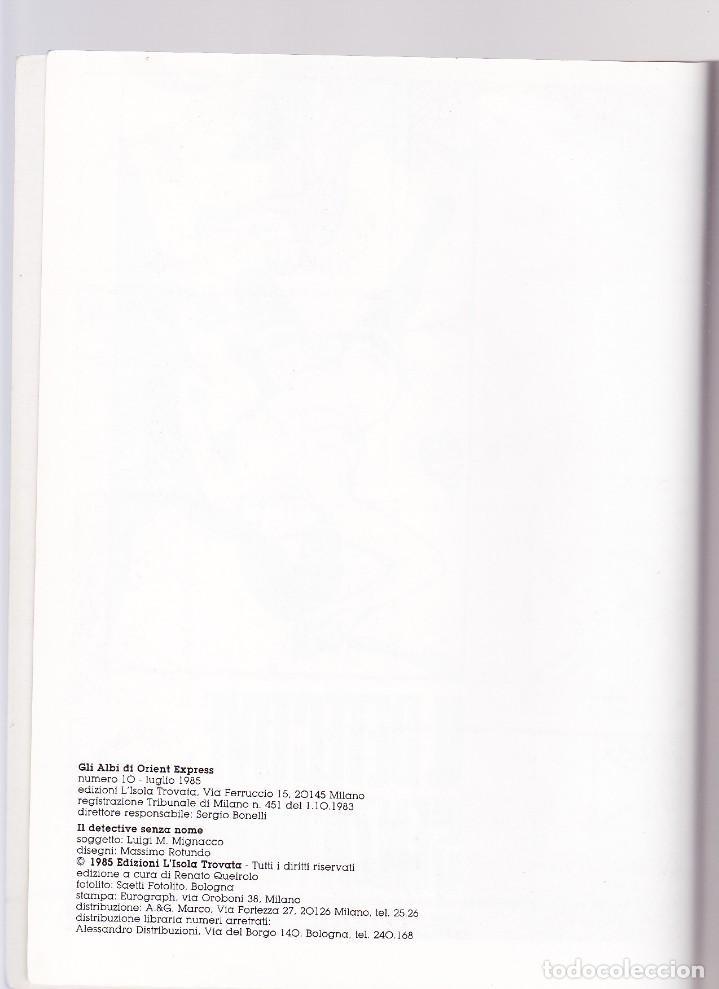 Cómics: Il Detetive Senza Nome (Albi di Orient Express 10) - Rotundo/Mignacco - Foto 4 - 289602793