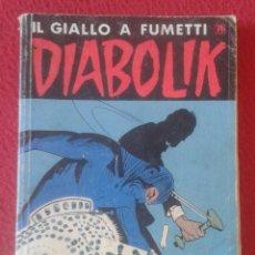 Cómics: ANTIGUO COMIC REVISTA IL GIALLO A FUMETTI DIABOLIK Nº 412 IL MANTELLO DI LUCE A. E L. GIUSSANI 1995?. Lote 289793078
