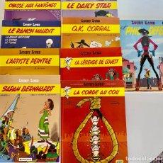 Cómics: LUCKY LUKE-LOTE DE 9-MORRIS/FAUCHE/ADAM-DARGAUD-ORIGINAL EN FRANCES-1977 Y POSTERIOR-VER TITULOS. Lote 290946868