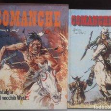 Cómics: COMANCHE - 2 TOMOS - ( TRES HISTORIAS CADA UNO ) 1977 - ED. VALLECCHI - TEXTO ITALIANO. Lote 296067713