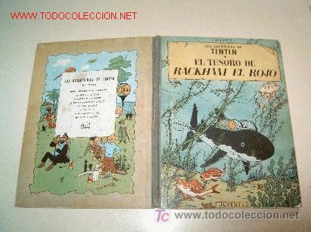 TINTIN PRIMERA EDICION TESORO RACKHAM EL ROJO PRIMERA + ASUNTO TORNASOL EDICION 1960, ALTO VOLTAJE (Tebeos y Comics - Comics Extras)