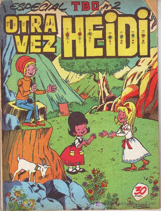 ESPECIAL TBO Nº 2: OTRA VEZ HEIDI.AGOSTO DE 1976 (Tebeos y Comics - Comics Extras)