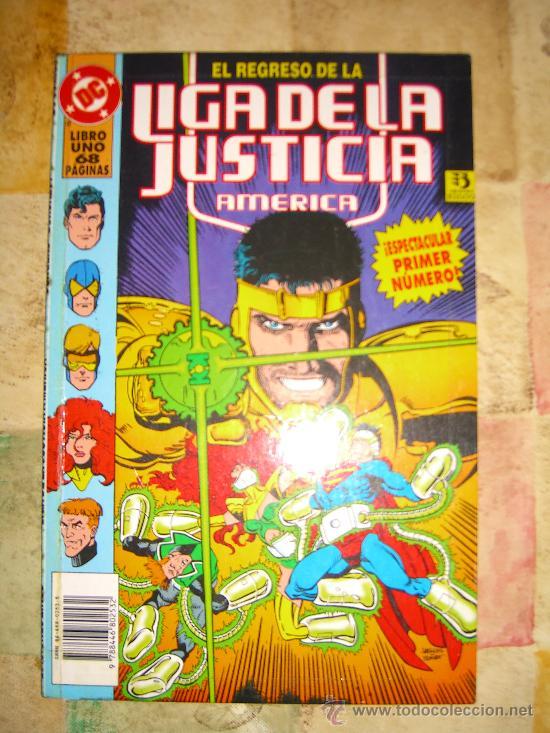 EL REGRESO DE LA LIGA DE LA JUSTICIA AMERICA. 2 TOMOS. COMPLETA CJ 1 - GORBAUD (Tebeos y Comics - Comics Extras)