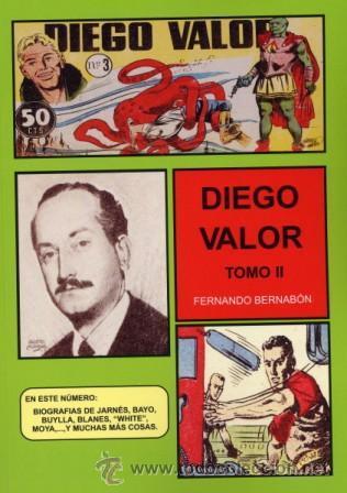 CUADERNOS DE LA HISTORIETA DIEGO VALOR TOMO II FERNANDO BERNABON (Tebeos y Comics - Comics Extras)