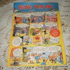 Cómics: GENTE MENUDA-SEMANARIO JUVENIL DEL ABC-III EPOCA Nº 323 - 21 DE ENERO DE 1996 .. Lote 19326640