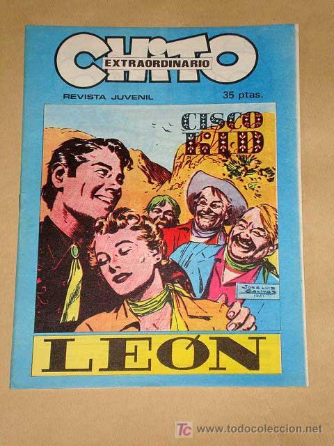 CHITO EXTRAORDINARIO: CISCO KID, LEÓN. POR ROD REED Y JOSÉ LUIS SALINAS. GRAFIMART 1974. +++ (Tebeos y Comics - Comics Extras)