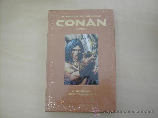 EXTRAORDINARIO TOMO TAPAS DURAS CON ARCHIVOS DE CONAN DE BARRY WINDSOR-SMITH 288 PAGINAS COLOR (Tebeos y Comics - Comics Extras)