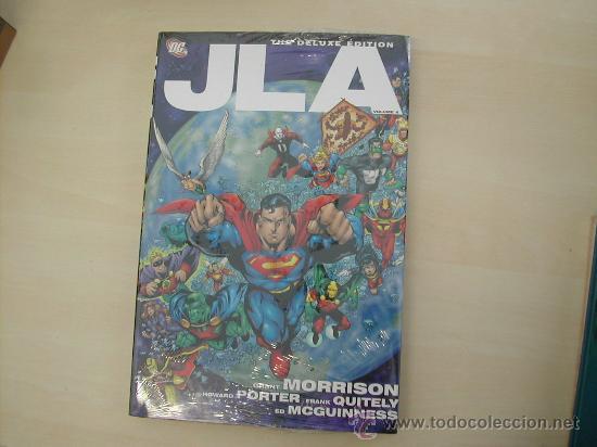 JLA TOMO LUJO HARDCOVER SOBRECUBIERTA GRANT MORRISON PAGINA GRANDE COMO LOS OMNIBUS SIN ESTRENAR (Tebeos y Comics - Comics Extras)