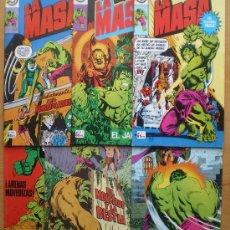 Cómics: COMIC LA MASA-EL INCREIBLE HULK-12 COMICS BRUGUERA 1981-82-NUEVOS 7-9-12-15-16-17-18-19-26-27-28-30.. Lote 37360750
