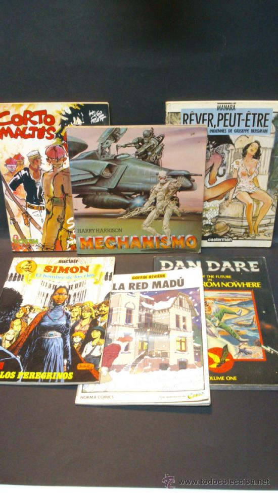 OFERTA 6 CLASICOS DEL COMIC. LA RED MADU, CORTO MALTES, DAN DARE, MECHANISMO, SIMON, REVER PEUT-ETRE (Tebeos y Comics - Comics Extras)