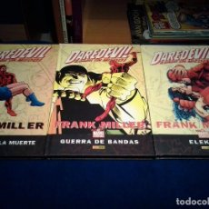 Cómics: DAREDEVIL, EL HOMBRE SIN MIEDO DE FRANK MILLER, LOTE DE 3 LIBROS. NUEVOS. Lote 81005928