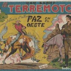 Cómics: DAN BARRY EL TERREMOTO - PAZ EN EL OESTE - 76 - ORIGINAL. Lote 173990989