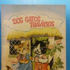 Cómics: DOS GATOS TRAVIESOS. FLORES LAZARO. EDITORIAL ROMA. ALBUMS DE CUENTOS FIESTA. Lote 175647857
