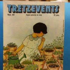 Cómics: TRETZEVENTS Nº.421. SEGONA QUINZENA DE MAIG. PUBLICACIÓ DEL SEMINARI DE SOLSONA. SIRVEANSAE. Lote 175651924