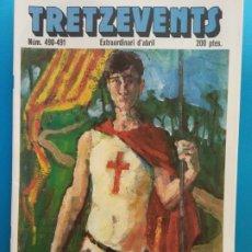 Comics: TRETZEVENTS Nº.490-491. EXTRAORDINARI D'ABRIL. SIRVEANSAE. Lote 175682940