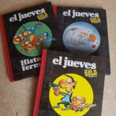 Cómics: 3 CÓMICS TAPAS DURAS EL JUEVES LUXURRY GOLD HISTORIAS FERMOSAS DIOS MÍO MAKINAVAJA. Lote 182597401