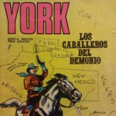 Cómics: YORK. LOS CABALLEROS DEL DEMONIO. NOVELA GRÁFICA PARA ADULTOS. BURU LAN S.A DE EDICIONES. Lote 185769763