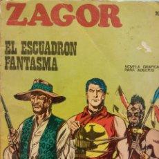 Cómics: ZAGOR Nº 20. EL ESCUADRÓN FANTASMA. NOVELA GRÁFICA PARA ADULTOS. BURU LAN S.A DE EDICIONES. Lote 185769896