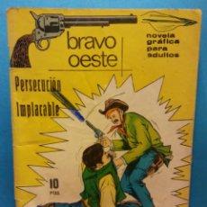 Cómics: PERSECUCION IMPLACABLE. BRAVO OESTE. HOSPITALET DE LLOBREGAT. Lote 192113372