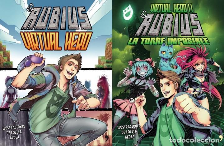 2 LIBROS COMIC-ELRUBIUS VIRTUAL HERO I Y LA TORRE IMPOSIBLE VIRTUAL HERO II (Tebeos y Comics - Comics Extras)