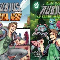 Cómics: 2 LIBROS COMIC-ELRUBIUS VIRTUAL HERO I Y LA TORRE IMPOSIBLE VIRTUAL HERO II. Lote 201704677