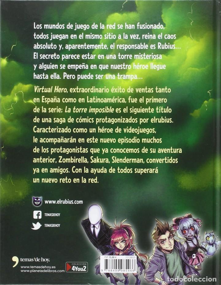 Cómics: 2 LIBROS COMIC-ELRUBIUS VIRTUAL HERO I y LA TORRE IMPOSIBLE VIRTUAL HERO II - Foto 6 - 201704677